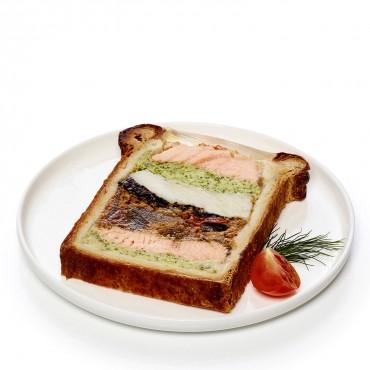Pâté en croûte de saumon,...